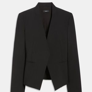 THEORY Stretch wool open front blazer